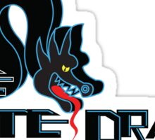 White Dragon - Noodle Bar (Black Variant) Sticker