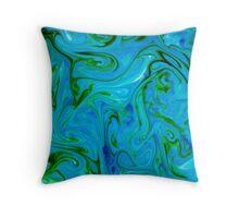 Watercolour abstract Swirl ,blue,green,jade Throw Pillow