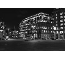 Night in the Glasgow city Photographic Print