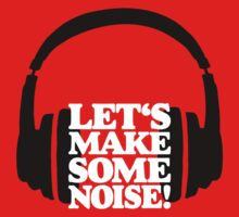 Let's make some noise - DJ headphones (black/white) Kids Tee