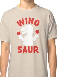 Wine Winosaur Dinosaur Classic T-Shirt
