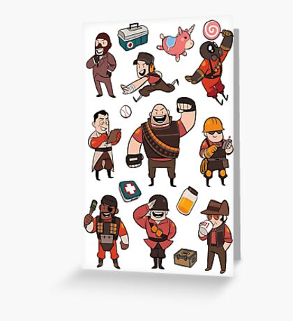 Team Fortress 2 / RED All Class Greeting Card