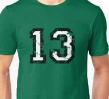 Number Thirteen - No. 13 (two-color) white Unisex T-Shirt