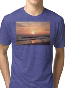 Sunset at the Beach Tri-blend T-Shirt