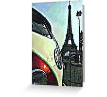 Safari Around the world Paris Greeting Card