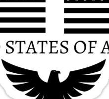 United States of America Flag US patriot Sticker Sticker