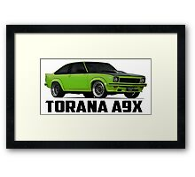 Holden Torana - A9X Hatchback - Green Framed Print