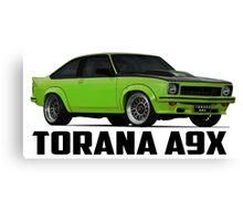 Holden Torana - A9X Hatchback - Green Canvas Print