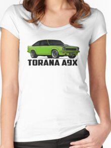 Holden Torana - A9X Hatchback - Green Women's Fitted Scoop T-Shirt