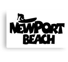 Newport Beach Surfing Canvas Print