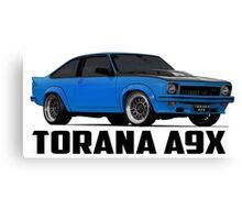 Holden Torana - A9X Hatchback - Blue Canvas Print