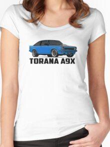 Holden Torana - A9X Hatchback - Blue Women's Fitted Scoop T-Shirt