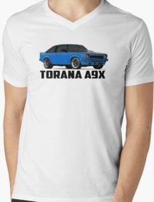 Holden Torana - A9X Hatchback - Blue Mens V-Neck T-Shirt