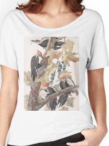 John James Audubon - Pileated Woodpecker Women's Relaxed Fit T-Shirt