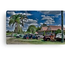 CHECK 'EM OUT Canvas Print