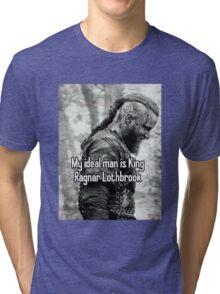 vikings king ragnar lodbrok Tri-blend T-Shirt