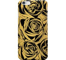 Elegant black rose on gold background.  iPhone Case/Skin