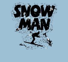 Snowman Ski Retro Unisex T-Shirt