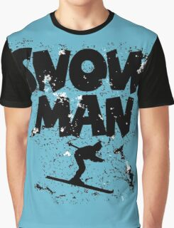 Snowman Ski Retro Graphic T-Shirt