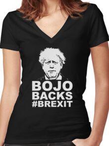 Bo Jo backs brexit ukip Women's Fitted V-Neck T-Shirt