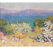 John RUSSELL - In the morning, Alpes Maritimes from Antibes . Landscape , Flowers Photographic Print