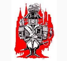 Imperial Clock surreal pen ink black white and red drawing T-Shirt
