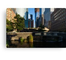 Sunny Oasis - a Peaceful Green Spot in the Heart of Manhattan, New York City, USA Canvas Print