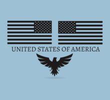 United States of America Flag US patriot Sticker Baby Tee