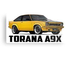 Holden Torana - A9X Hatchback - Yellow Metal Print