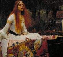 John William Waterhouse - The Lady of Shalott 1888 . Woman Portrait  Sticker