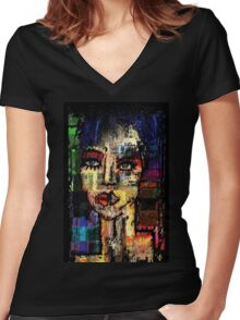 One six one eight. Women's Fitted V-Neck T-Shirt