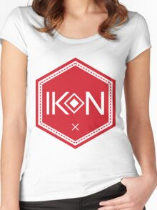 Ikon Red Logo Tshirt Women's Fitted Scoop T-Shirt