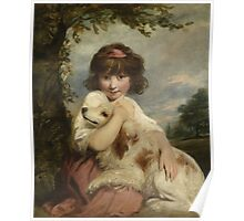Joshua Reynolds - A Young Girl and Her Dog  1780 .  Best Freind Poster