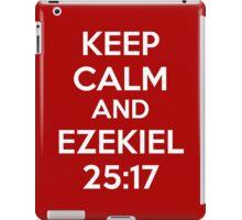 Keep Calm and Ezekiel 25:17 iPad Case/Skin