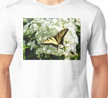 Swallowtail on White Hydrangea Unisex T-Shirt