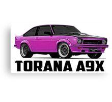 Holden Torana - A9X Hatchback - Pink Canvas Print