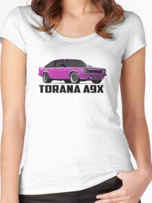 Holden Torana - A9X Hatchback - Pink Women's Fitted Scoop T-Shirt