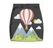 air trip mountain design balloon ballon montgolfière ballooning  Mini Skirt