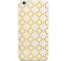 Geometry gold grid texture. Vintage style texture. iPhone Case/Skin