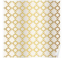 Geometry gold grid texture. Vintage style texture. Poster