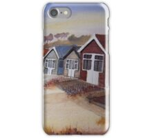 Beach Huts at Mudeford iPhone Case/Skin