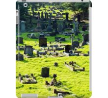 Graveyard With Old Weathered Gravestones iPad Case/Skin