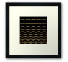 Abstract wave gold and black texture.  Framed Print