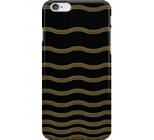 Abstract wave gold and black texture.  iPhone Case/Skin
