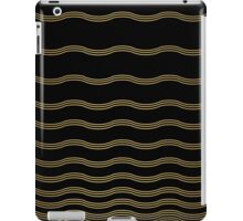 Abstract wave gold and black texture.  iPad Case/Skin