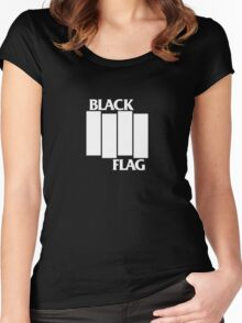 Black Flag T Women's Fitted Scoop T-Shirt