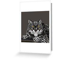 snow leopard lead Greeting Card