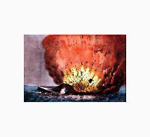 Destruction of the rebel monster Merrimac off Craney Island - 1862 - Currier & Ives Unisex T-Shirt