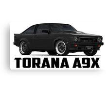 Holden Torana - A9X Hatchback - Black Canvas Print