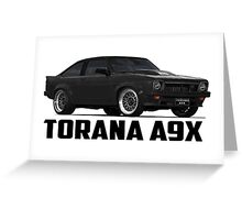 Holden Torana - A9X Hatchback - Black Greeting Card